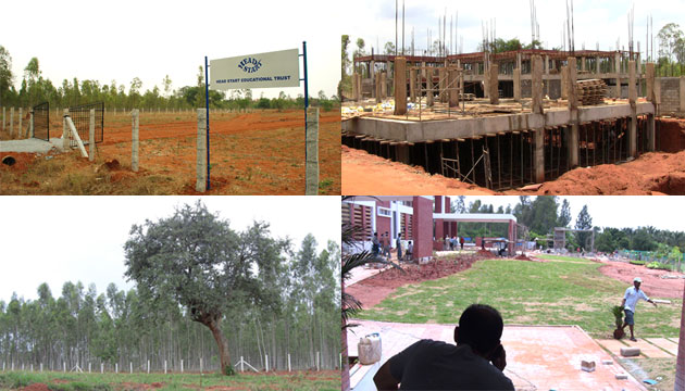 2009 - 2011, Finally our own land and progressing towards completion of our campus
